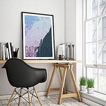 Obrazy - BARCELONA, elegantná, modro-fialová - 8233491_
