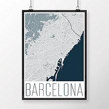 Obrazy - BARCELONA, moderná, svetlomodrá - 8233768_