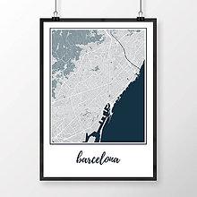 Obrazy - BARCELONA, klasická, svetlomodrá - 8233770_