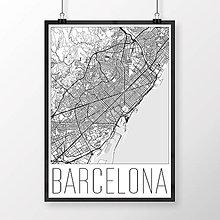 Obrazy - BARCELONA, moderná, biela - 8233926_