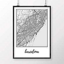 Obrazy - BARCELONA, klasická, biela - 8233931_