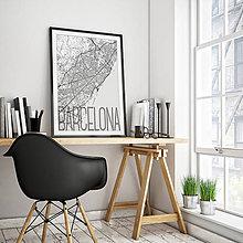 Obrazy - BARCELONA, elegantná, biela - 8233939_