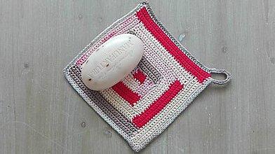 Úžitkový textil - Háčkovaná žinka do kúpeľne - 8232060_