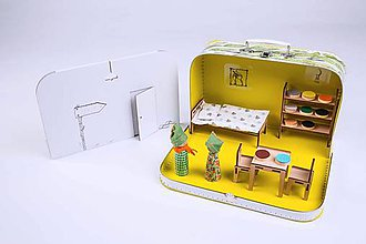 Hračky - Kufríkov - designový kufríkový domček - lesní - 8233233_