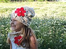 Detské čiapky - Homeless a nákrčník - 8232267_