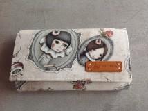 Peňaženky - Peňaženka priehradková - romantická, sada s kľúčenkou - 8234363_
