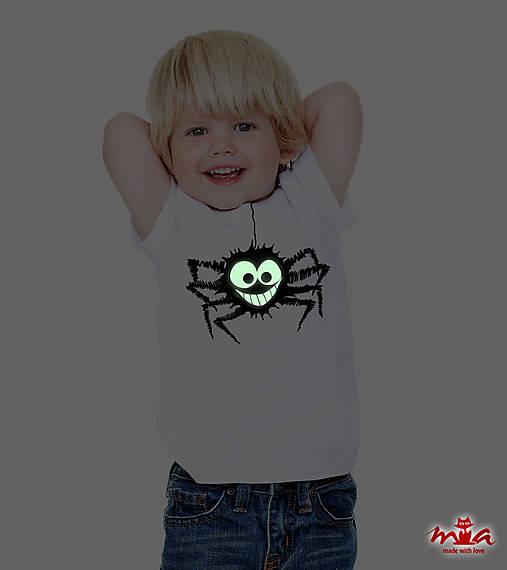 cf740ad12d48 Spider - svietiace tričko   MIA-made - SAShE.sk - Handmade Detské ...