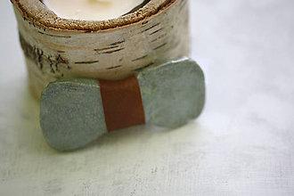 Doplnky - mint betónový motýlik - 8233856_
