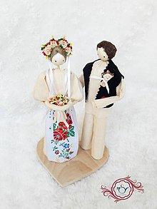 Darčeky pre svadobčanov - Folklórny párik z Východnej - 8233819_