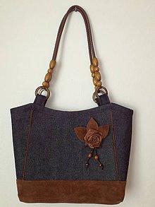 Veľké tašky - Riflová taška - 8231672_