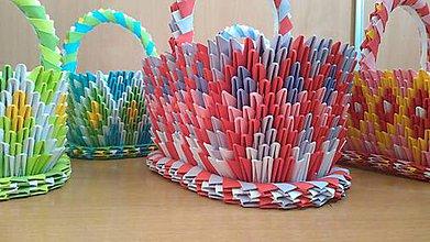 Dekorácie - origami košík - hranatý - 8233437_