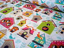 Textil - Bavlnená látka Flutter & Float - búdky - 8236650_
