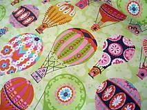 Textil - Bavlnená látka Flutter & Float - balóny - 8236680_