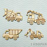 - Výrez Vozidlá - Stavebné stroje - malý set - 8237262_