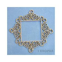 Polotovary - Výrez Si tak pôvabná - Nepravidelný štvorcový rámik, veľký - 8236352_