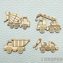 Polotovary - Výrez Vozidlá - Stavebné stroje - malý set - 8237262_