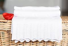 """Textil - Letná detská deka, """"Daisy"""",OEKO-TEX® - Biela - 8235130_"""