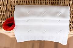 """Textil - Letná detská deka, """"Daisy"""",OEKO-TEX® - Biela - 8235131_"""