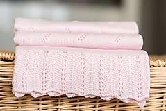 "Textil - Letná detská deka, ""Daisy"",OEKO-TEX® - Bledoružová - 8235581_"