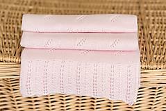 "Textil - Letná detská deka, ""Daisy"",OEKO-TEX® - Bledoružová - 8235582_"