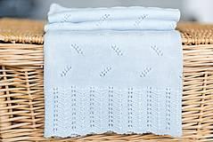 """Textil - Letná detská deka, """"Daisy"""",OEKO-TEX® - Bledomodrá - 8235596_"""