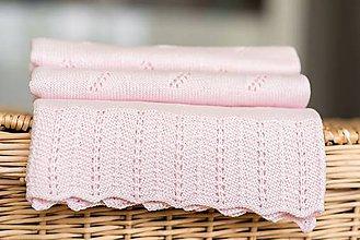 "Textil - Letná detská deka, ""Diana"",OEKO-TEX® - Bledoružová - 8235581_"