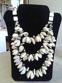 Náhrdelníky - mušľové náhrdelníky - 8235506_
