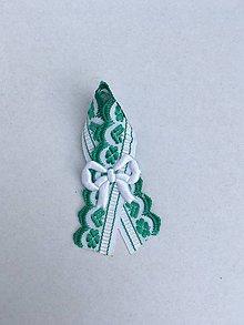 Pierka - svadobné pierko zelené vyšívané - 8236623_