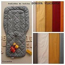 Textil - ELEGANT Univerzálna letná podložka do kočíka BUGABOO a autosedačky proti poteniu Dúhová VLNIENKA - 8237230_