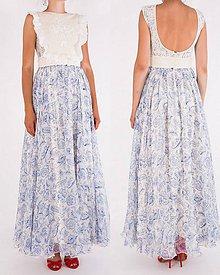 Šaty - Šifónové modrotlač - 8235348_