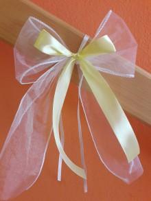 Darčeky pre svadobčanov - Mašle na auto - 8235711_