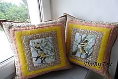 Úžitkový textil - Vankúše vtáčatá - objednávka - 8237362_