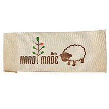Galantéria - Látková nášivka Handmade - ovečka - 8235234_