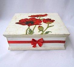 Krabičky - Šperkovnica-vlčie maky 1 - 8237778_