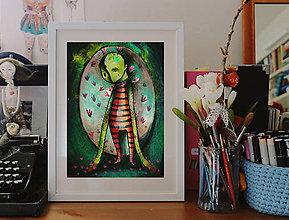 Grafika - Dušička kaktusová - 8238182_