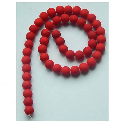 Korálky - Sklenená korálka - neón, červená /5ks - 8239658_