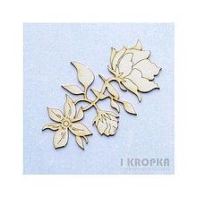 Polotovary - Výrez Bloom - Kvetinový veľký ornament - 8239210_