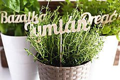 Dekorácie - Zápich do bylinky - 8237666_