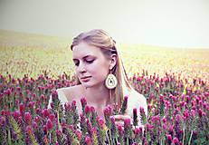 Náušnice - Ivory soutache drops - sutaškové náušnice - 8240179_