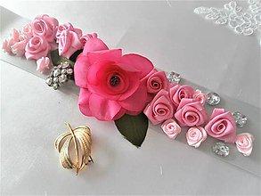 Opasky - Kvetinový opasok - 8240030_