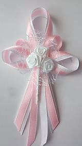 Pierka - Bielo-svetloružové svadobné pierko pre svadobného otca / starejšieho - 8239392_