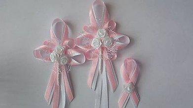 Pierka - Svetlo-ružová sada svadobných pierok - 8239354_