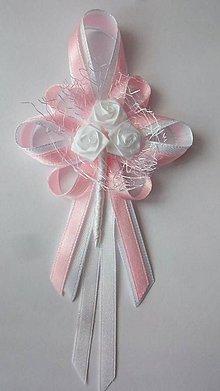 Pierka - Bielo-ružové svadobné pierko pre svad. otca/starejšieho - 8239361_