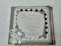 Papiernictvo - Luxusný svadobný fotoalbum - romantický - 8239008_