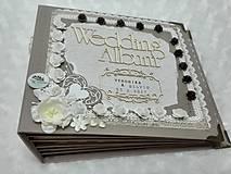 Papiernictvo - Luxusný svadobný fotoalbum - romantický - 8239009_