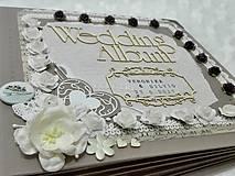 Papiernictvo - Luxusný svadobný fotoalbum - romantický - 8239012_