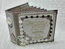Papiernictvo - Luxusný svadobný fotoalbum - romantický - 8239015_