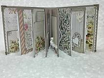 Papiernictvo - Luxusný svadobný fotoalbum - romantický - 8239017_