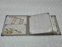 Papiernictvo - Luxusný svadobný fotoalbum - romantický - 8239021_