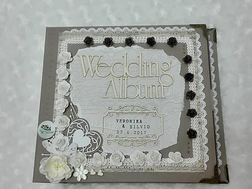 Luxusný svadobný fotoalbum - romantický